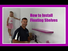 How To Build A Wall Mounted Bookcase How To Hang Floating Shelves On A Plasterboard Wall Youtube