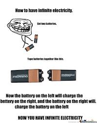 Electricity Meme - infinite electricity troll by marooca meme center