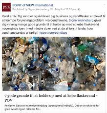 målet er at færre køber vand i flasker og i stedet omlægger