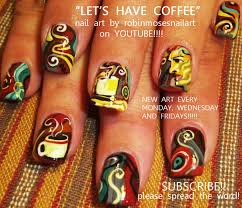 robin moses nail art coffee nails coffee nail design brown