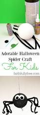 adorable halloween spider craft for kids faithfully free