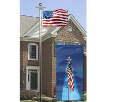 annin american flag u0026 in ground flagpole set with solar light