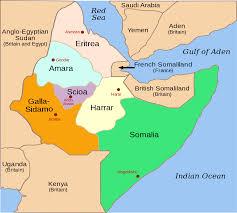 Map Of Ethiopia Six Provinces Of The Aoi Africa Orientale Italiana Italian