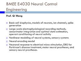 systems biology and neuroengineering christine p hendon phd