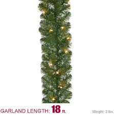 Garland by Home Accents Holiday 18 Ft Pre Lit Noble Fir Garland With 100