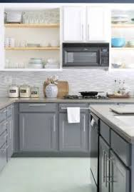 Painted Cabinets Kitchen How To Paint Oak Cabinets And Hide The Grain White Paints 18