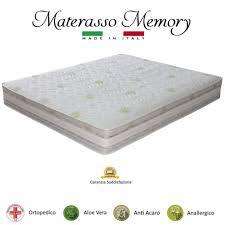 memory materasso materasso memory tutte le misure ortopedico aloe vera