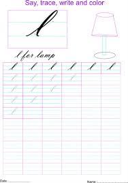 cursive small letter u0027l u0027 worksheet