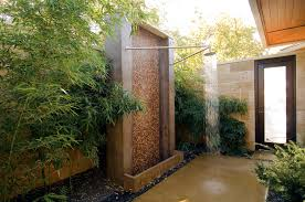 Teak Outdoor Shower Enclosure by Amazing Asian Resort With Open Air Outside Shower With White Coral