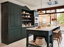 Painting Old Kitchen Cabinets White by Blue Painted Kitchen Cabinets White Marble Countertop Upholstered