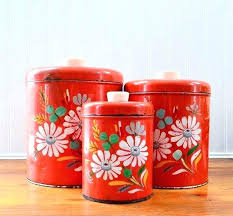 vintage metal kitchen canisters tin kitchen canisters tea time tin kitchen canisters retro tin