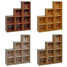 1 2 3 4 tier strong wooden bookcase shelving cube storage