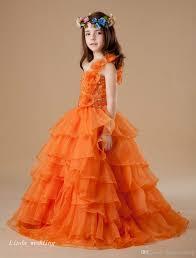 cheap cute orange colour u0027s pageant dress princess ball gown