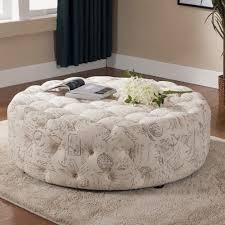Round Cocktail Ottoman Upholstered by Coffee Table Round Leather Upholstered Ottoman Large Ottomans And