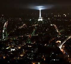 Beautiful Eiffel Tower by Skyscrapers Night Paris Light Beautiful France Evening City