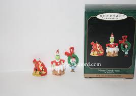 hallmark 1999 merry grinch dr seuss set of 3 miniature