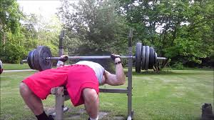 Outside Bench Took Bench Press Outside To Use Nice Day Youtube