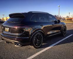 cayenne porsche black pics 2016 cayenne turbo s in black rennlist porsche