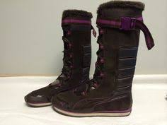 s winter boots size 9 womens nike insulated winter boots sneaker black grey quilted