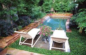 Apartment Backyard Ideas Best Small Swimming Pool And Garden Stock Photography Image With