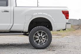 nissan titan body lift rough country pocket fender flares w rivets for 2017 nissan titan