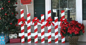 Christmas Fence Decorations 50 Cheap U0026 Easy Diy Outdoor Christmas Decorations Prudent Penny