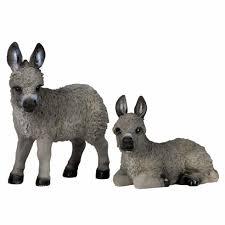 jack u0026 jenny the realistic baby grey donkey garden ornaments