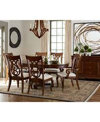 7 Pc Dining Room Sets Bordeaux Pedestal 7 Pc Dining Room Set Dining Table 4