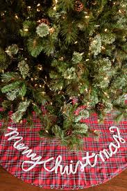 plaid tree skirt merry christmas plaid tree skirt s