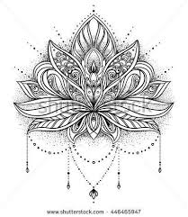Simple Lotus Flower Drawing - best 20 lotus flower design ideas on pinterest lotus mandala