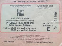the who wembley stadium 18th august 1979 vintagerock u0027s weblog