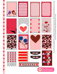 printable stickers valentines planner stickers for valentine s day free printable