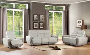 homelegance valda power reclining sofa set top grain leather