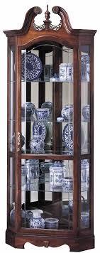 curved corner curio cabinet incredible design ideas corner curio cabinets interesting decoration