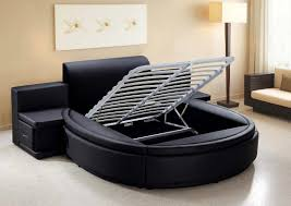 Circular Platform Bed by Black Padded Circle Headboard Bedroom Furniture U003e U003e Modern