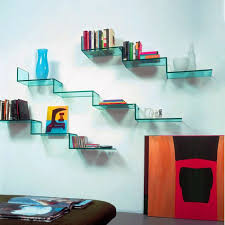 Glass Bookshelves by Wall Shelves Design Best Unusual Shelves On Wall 2017 Unusual