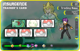 Pokemon Trainer Card Designer Customized Trainer Card Fanmade Content The Pokemon