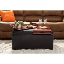 wyndenhall franklin storage ottoman with 3 serving trays free