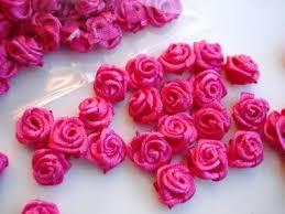 satin roses 100pc mini satin ribbon fuchsia f18 hot pink craft