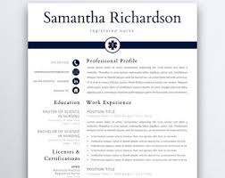 Resume For A Cna Medical Resume Etsy
