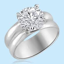 solitaire stone rings images Wide band solitaire ring 2 5 ct round brilliant stone set in jpg