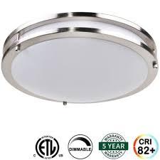 Brushed Nickel Light Fixtures Flushmount Light Fixture Ceiling Led L Closet Brushed