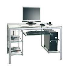 bureau ordinateur en verre meuble informatique en verre bureau largeur 90 cm eyebuy