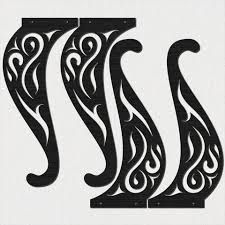 traditional style ornamental scroll legs of table dxf files cut