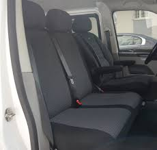 seat covers t6 panel van rhd 6 seats 2 1 and 3 person bench