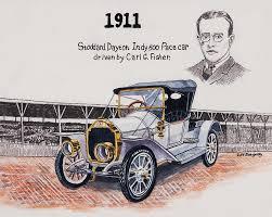 1911 painting 1911 indy 500 pace car by jeff blazejovsky