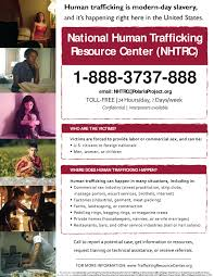 usa trafficking hotline flyer and contact number slavery human