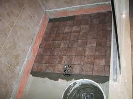 tile over tile in shower floor showers decoration bathroom remodel tile shower floor not sloped properly floor design informal how to tile a shower floor with river rock