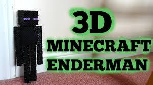 Halloween Perler Bead Templates by 3d Perler Bead Minecraft Enderman Figure Full Tutorial Youtube