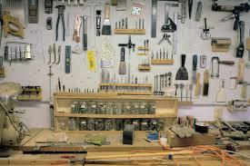 tools on wall in nolls pleasant shop